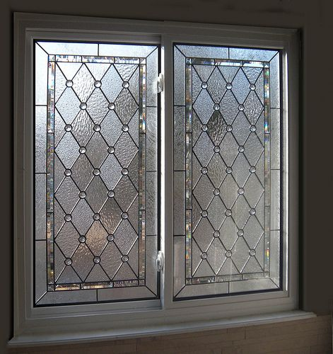 Diamond  Beveled Stained Glass Bathroom Windows in 2018 Glass