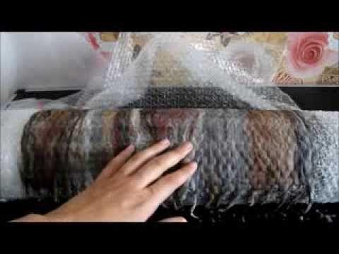 Валяние шарфа в один слой, tutorial felting scarf - YouTube