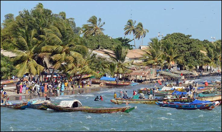 Lively market, Banjul, Gambia