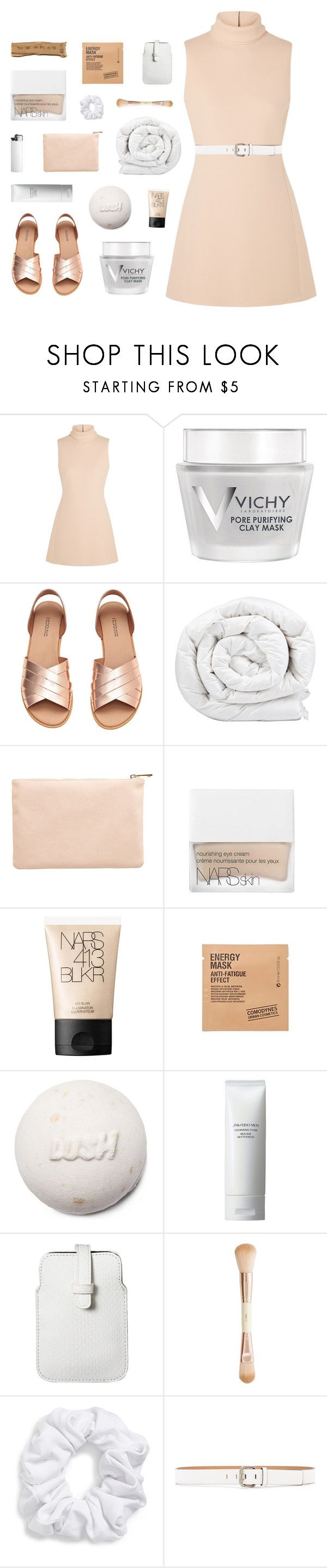 """""""keep your silver, give me that gold"""" by lucidmoon ❤ liked on Polyvore featuring Calvin Klein Collection, Vichy, Brinkhaus, Miss Selfridge, NARS Cosmetics, Comodynes, Shiseido, Mossimo, H&M and Natasha"""