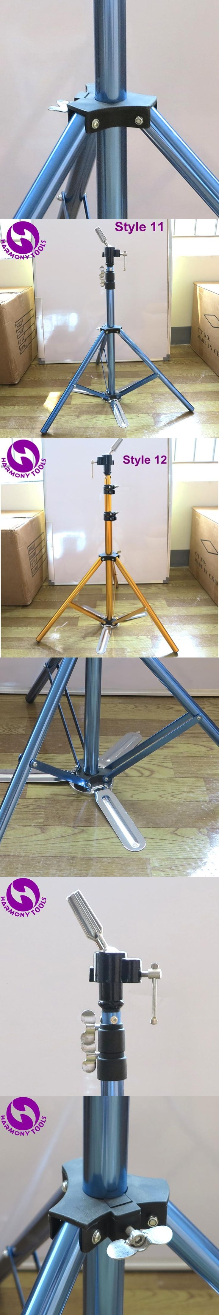 HARMONY 1 Piece Blue Pedal Aluminum Alloy Tripod for Display Hairdressing Training Hair Mannequin Head Holder Clamp