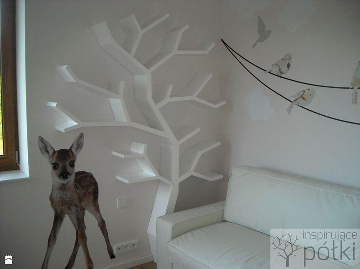 Półka drzewo 210x160x20cm - zdjęcie od Inspirujace półki - Pokój dziecka - Styl Skandynawski - Inspirujace półki