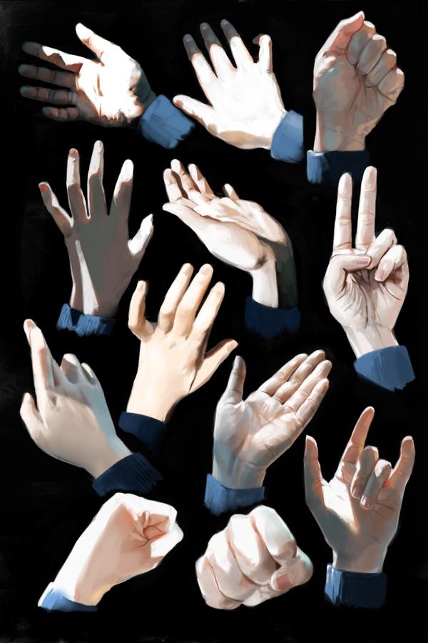 Hand Study by ~aivii on deviantART