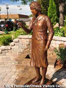 Radium Girl, Ottawa, IL.  Commemorates woman who were injured by radium exposure while painting clock faces.