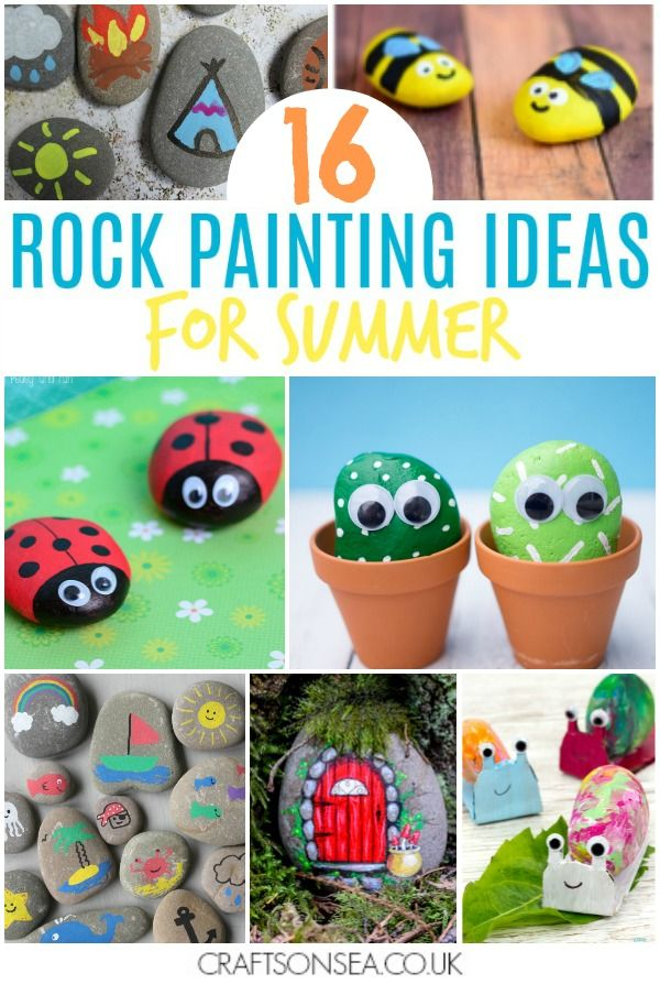 Rock Painting Ideas For Kids Summer Themed Painted Rocks Kids