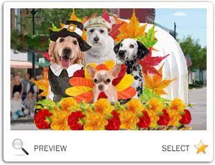 Thanksgiving Parade dog ecard