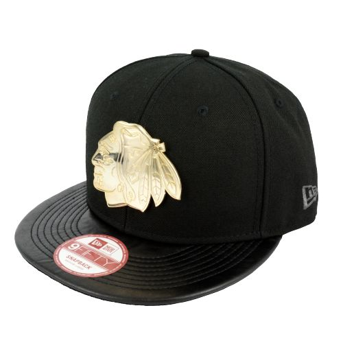 NEW ERA BLACKHAWKS GOLD BADGE SNAPBACK CAP now available at Foot Locker