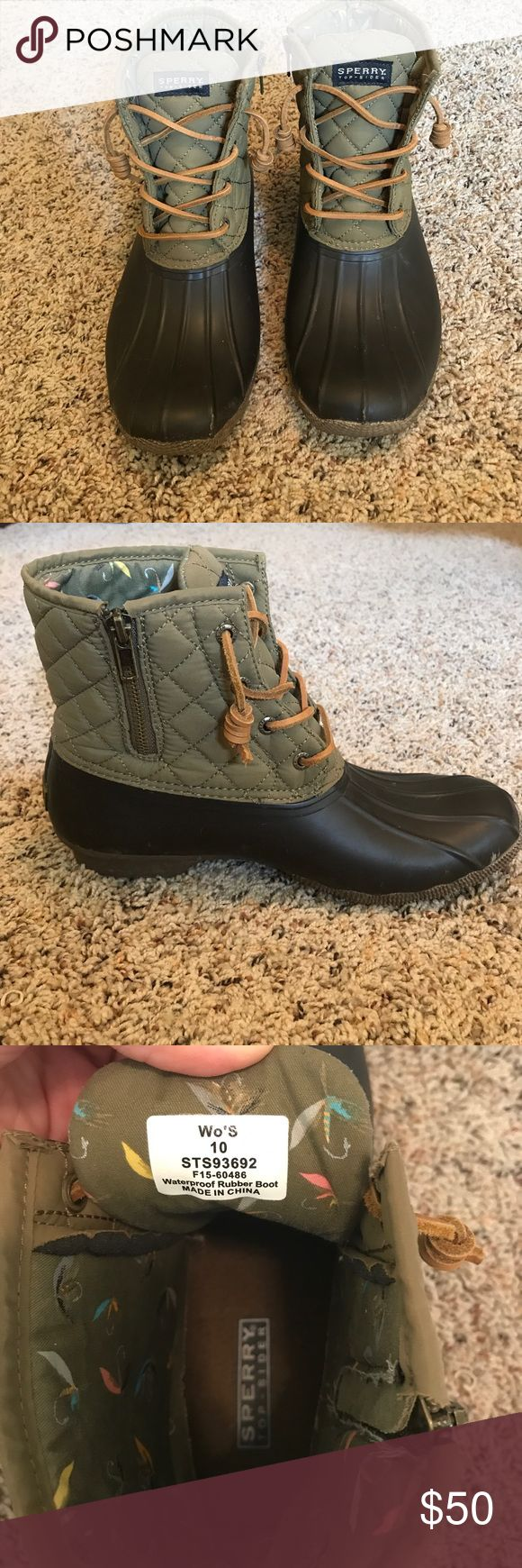 Sperry Duck Boots Sperry Duck Boots. Worn only a few times. Excellent condition! Sperry Shoes Winter & Rain Boots