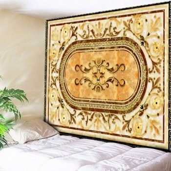 Ethnic Floral Bedroom Decor Wall Tapestry (YELLOW,W79 INCH * L59 INCH) in Wall Tapestries   DressLily.com