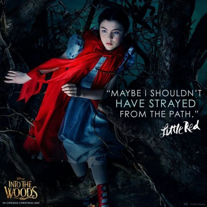 Lilla Crawford As Little Red Riding Hood In New INTO THE WOODS Social Media Image