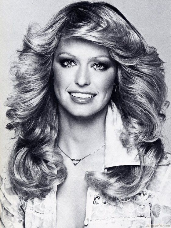 Feathered 70′s Disco Hairstyles