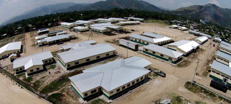 El nuevo complejo de la Policía Militar llega a potenciar la seguridad en Cortés. Fotos: Yoseph Amaya y Andro Rodríguez Policía Militar inaugurará complejo en Chamelecón