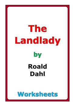 best landlady images roald dahl short stories 9 pages of worksheets for the short story the landlady by roald dahl