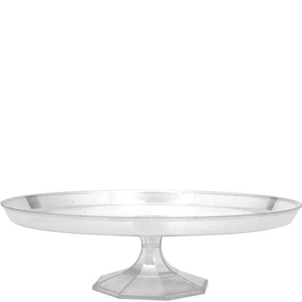 CLEAR Plastic Cake Stand
