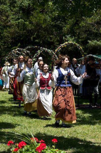 Swedish Celebration called Midsummer's Festival. Lindsborg, Ks.