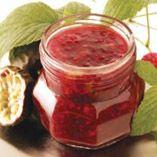 Raspberry & Passion Fruit Jam / Hallon- och passionsfruktsylt   (Recipe in Swedish)