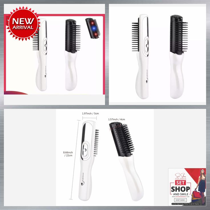 Electric Infrared Laser Hair Growth Comb (3 in 1)_for Hair Care, Styling and Hair Loss Treatment Infrared Device Massager Brush