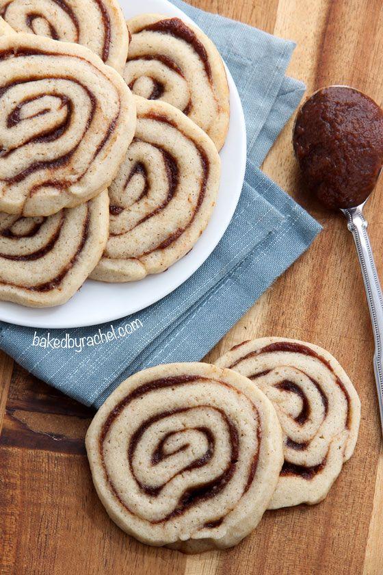 Apple Butter Pinwheel Cookie Recipe from @bakedbyrachel