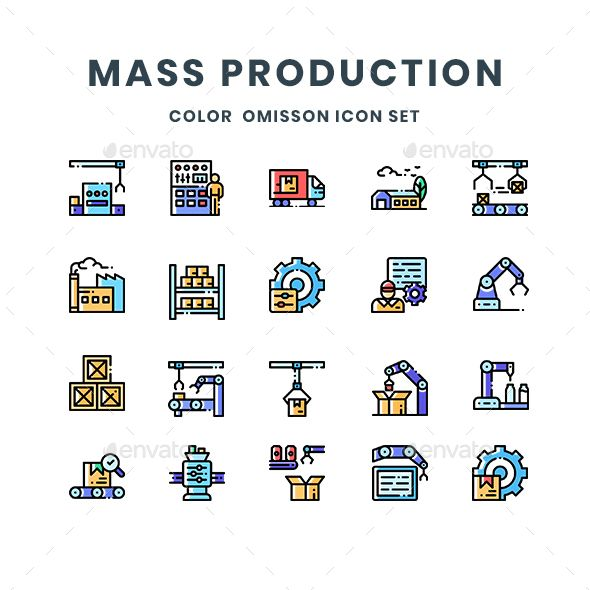 Mass Production Icons