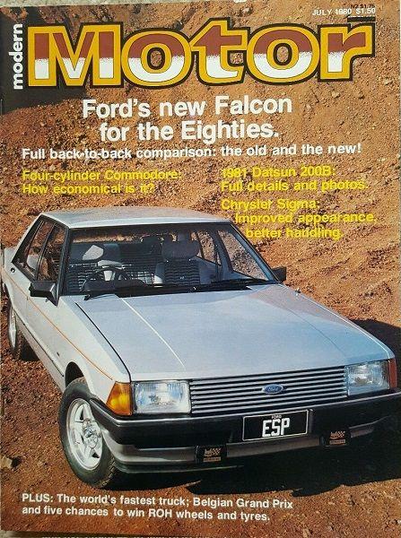 Bon Ford Falcon XD ESP Motor Magazine Front Cover