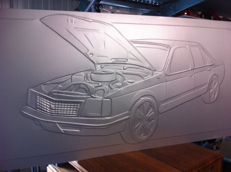 This measures 1200 x 800mm was made for client , her partner loves his VC holden