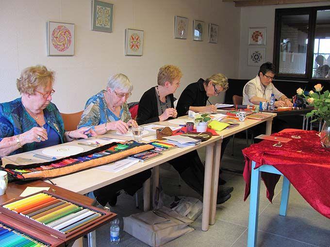 In 2012 werd ik uitgenodigd door Willemien Geurts van MandalArt in Nistelrode. Hier werkten we het Davidschild uit.