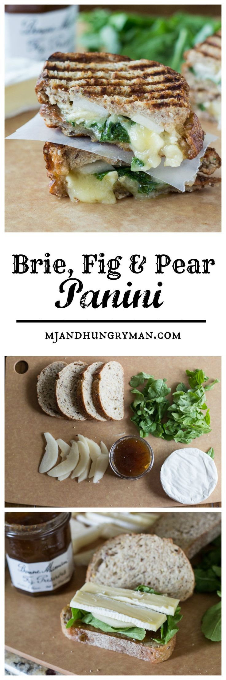 Brie, Fig and Pear Panini // The Adventures of MJ and Hungryman
