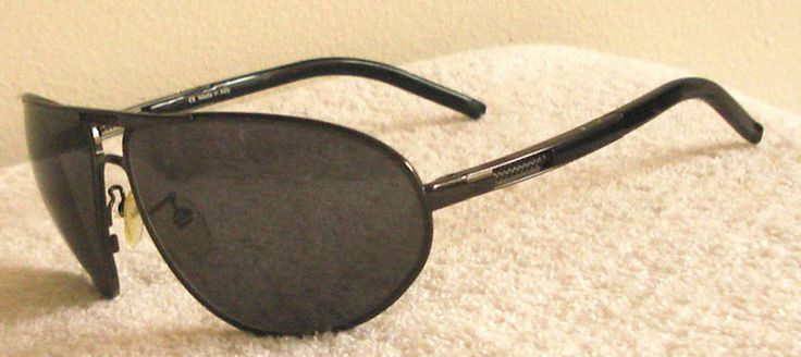 GAULTIER JP Sunglasses Aviator SJP 068 black wrap sports big Hardly worn Italy