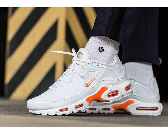 dfa87eae81 Nike Air Max Plus TN SE | White/Silver/Total Orange | Mens Trainers [AO9564- 100] #Nike #Lifestyle