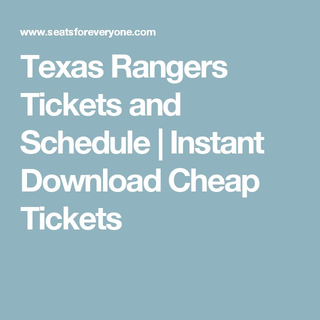 Texas Rangers Tickets and Schedule | Instant Download Cheap Tickets