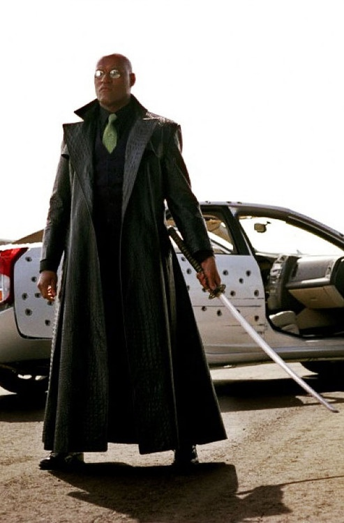 Laurence Fishburne in The Matrix Reloaded