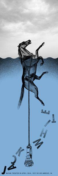 Jack White concert poster | designed by Rob Jones