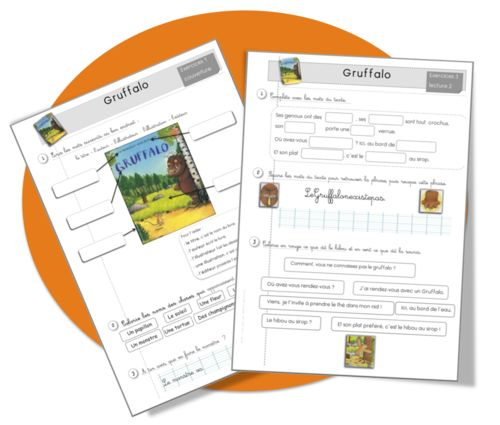 Gruffalo : exercices et lecture - Bout de gomme