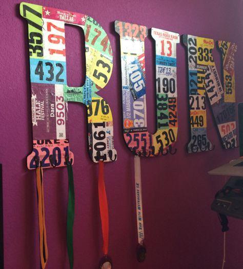 race medal display diy - Google Search