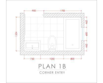 45 best bathroom ideas images on pinterest for Small 3 4 bathroom floor plans