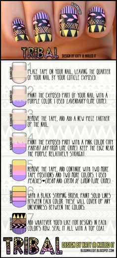 This nail art tutorials breaks down each step to achieve a detailed look. #manicure #nailart #nails