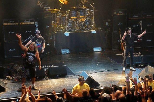 Mikkey Dee & Phil Campbell & Lemmy Kilmister.MOTORHEAD