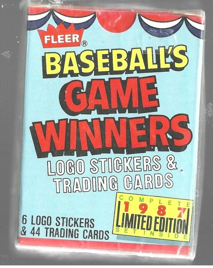 1987 fleer baseball game winners set unoopened limited