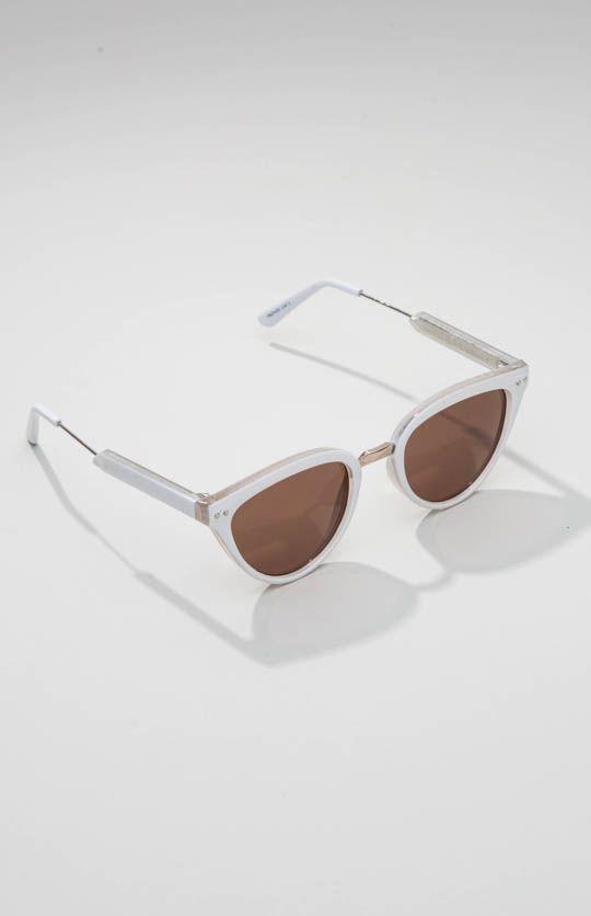 Spitfire | Yazhoo Sunglasses - White/Gold/Black | peppermayo.com