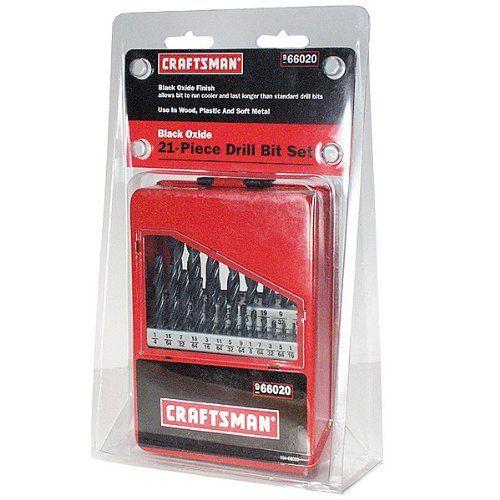 Craftsman 21 Piece Black Oxide Drill Bit Set in CaseBit Sets, Craftsman 21 Piece, Drill Bit, 21 Piece Drill, Black Oxidized, Craftsman Drill, Piece Black, 21 Piece Craftsman, Oxidized Drill