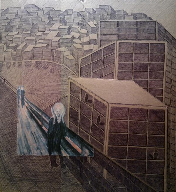 Screaming through the city by Gregory Karioris, via Behance