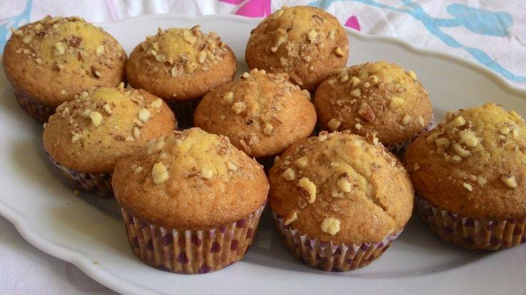 Vynikajíci medové muffiny s oříšky. Autor: P.T.