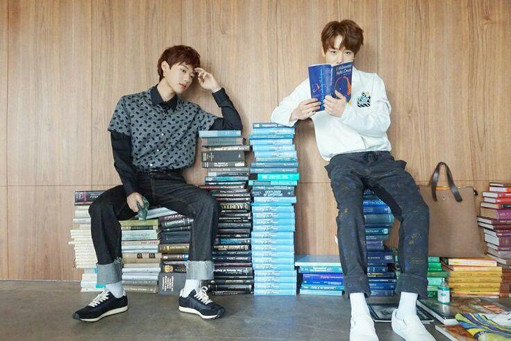 "[PIC] W PROJECT: JangJun and YoungTaek ""Drought"" MV Making Behind The Scenes  { #Drought #Jangjun #LeeJangjun #TAG #SonYoungtaek #GoldenChild #WoollimEntertainment #Kpop } ©Tumblr @fyeahgoldenchild"