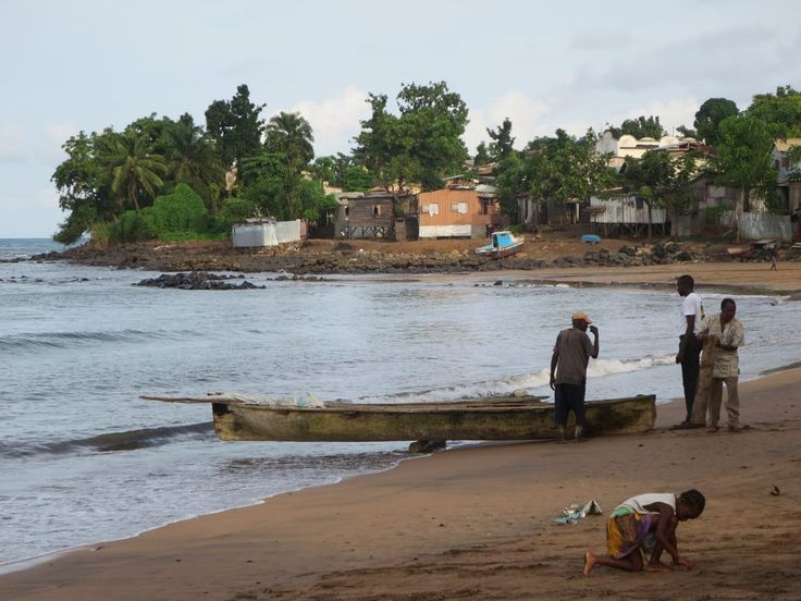 Praia Melão is near Pantufo on the northeast coast of Sao Tome Island, São Tomé and Príncipe.