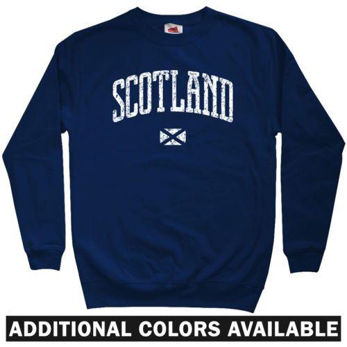 Escocia-Sudadera-Crewneck-Edimburgo-Glasgow-de-Aberdeen-Dundee-Reino-Unido-hombres-S-3XL