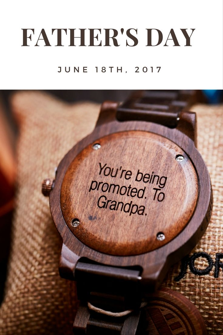 Make a memorable gift meaningful for years to come! JORD's line of natural wood watches can be customized with back plate or presentation box engraving.  Choose a font from our options or upload your own handwritten message! Place your custom engraving order by June 14th for guaranteed delivery by Father's Day!