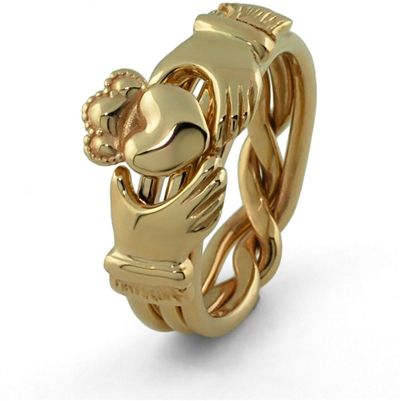 Claddagh Puzzle Ring UG-3AML - Our newest addition to our puzzle ring line!