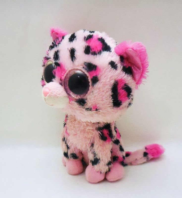 Ty Beanie Boos Gypsy, Pink Cheetah cat 2012 Justice store Exclusive, No hang tag #Ty