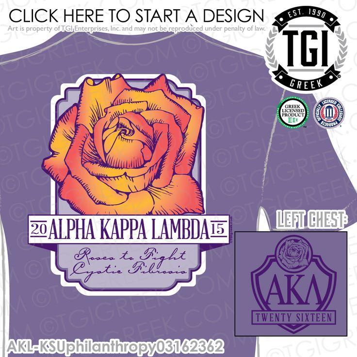 TGI Greek - Alpha Kappa Lambda - Philanthropy - Greek Apparel #tgigreek #alphakappalambda