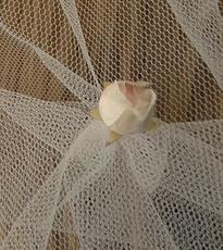 Charlotte veil, bespoke wedding veil, blossom bud
